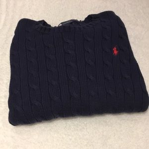 Ralph Lauren Polo Navy Cable Knit Sweater